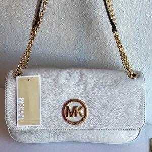 NEW MK Fulton Vanilla Shoulder Bag